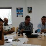 Reunión en el puerto de Malaga con los coordinadores de zona
